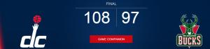 résultats du match de Basket-ball